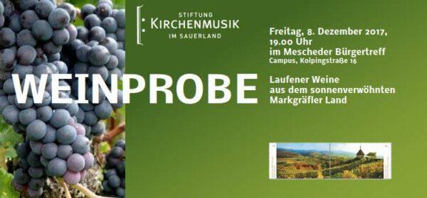 Weinprobe der Stiftung Kirchenmusik im Sauerland
